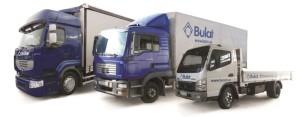 Автопарк машин по доставке продукции Bulat