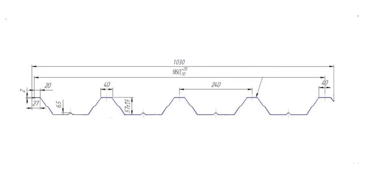 Профнастил Bulаt® T57 схема