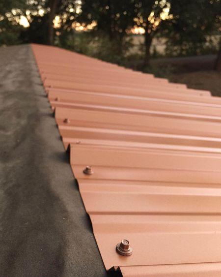 Профнастил после монтажа на крыше