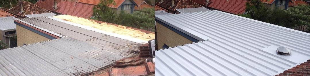 Профнастил после шифера на той же крыше фото