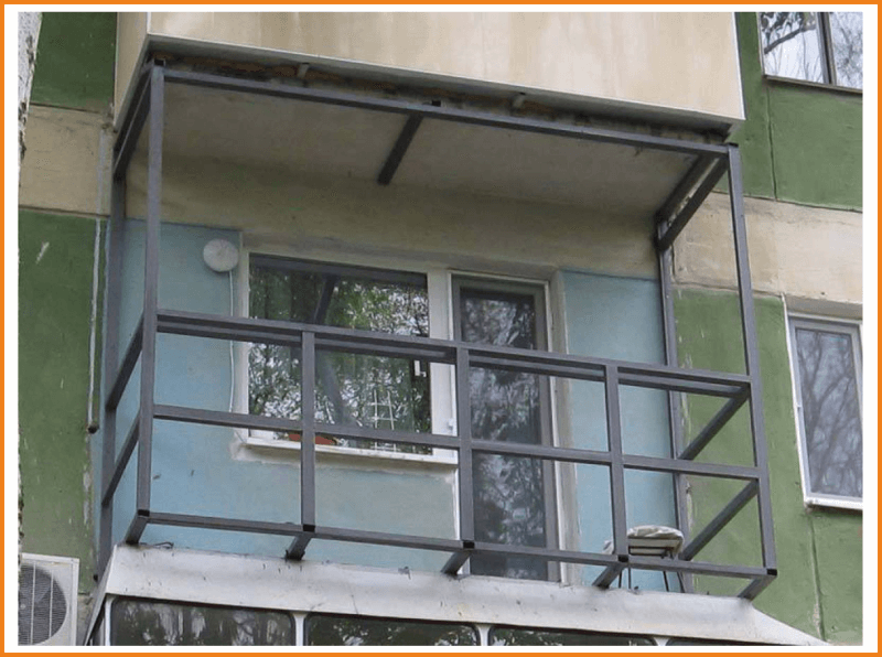 Готовим балкон из профнастила