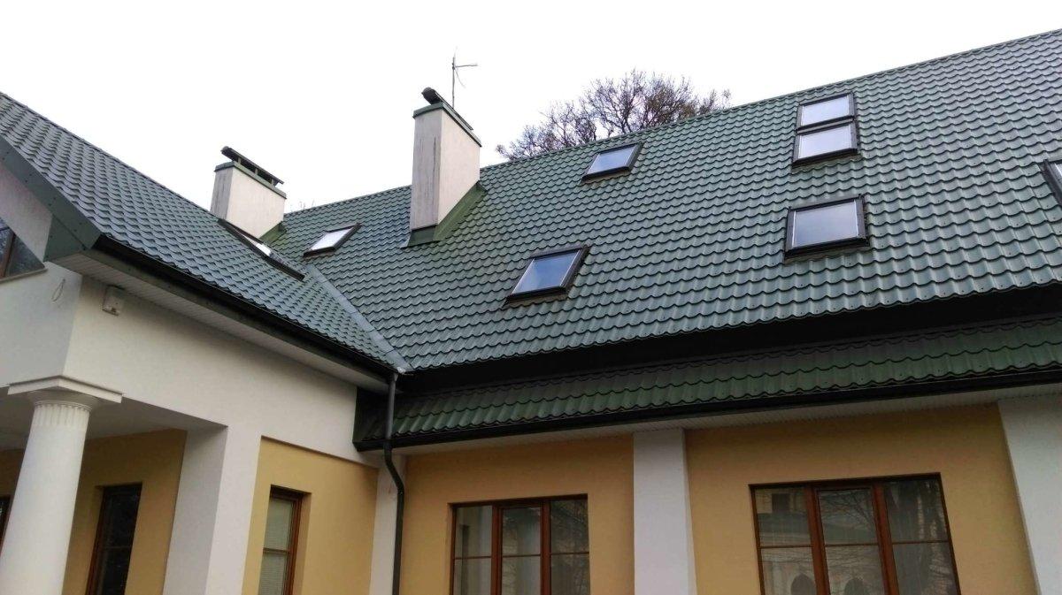 Фото крыши из металлочерепицы