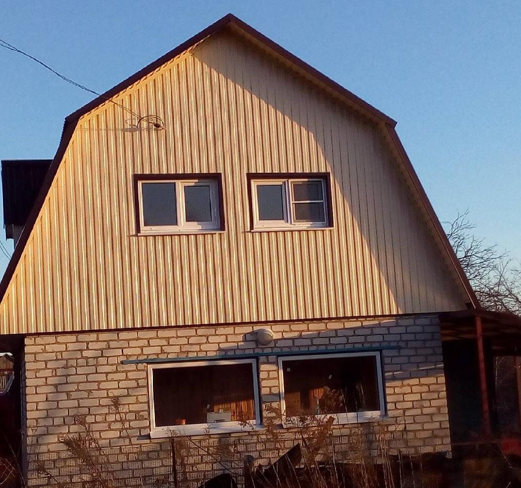 фронтон дома металлопрофиль картинка