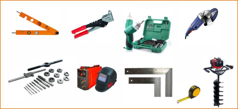 Инструменты для монтажа ворот из профнастила