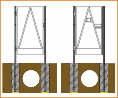 шаг 2 - каркас калитки с петлями