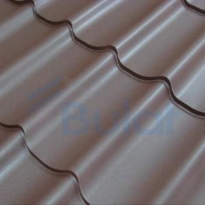 Коричневая металлочерепица Bulat W42 покрытием полиэстр р.1