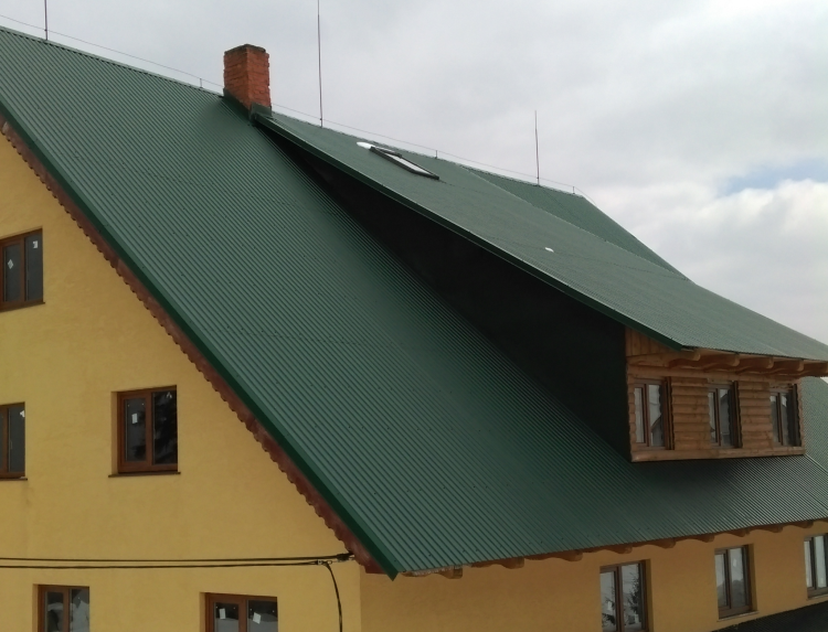 Профнастил односкатная крыша