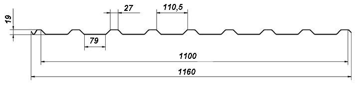 Профнастил ПК20 схема размеров
