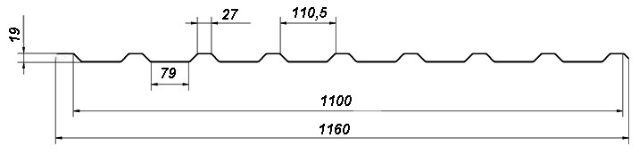 Профнастил Bulat® Т20 R схема